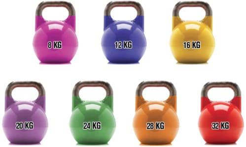 kettlebell por colores